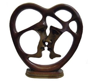 статуэтка сердце h=26см